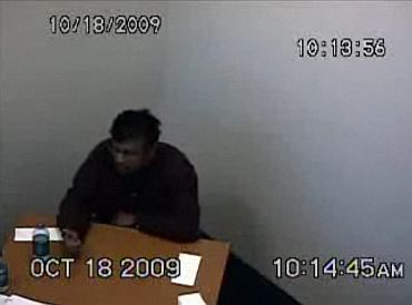 A video grab of Tahawwur Rana's interrogation