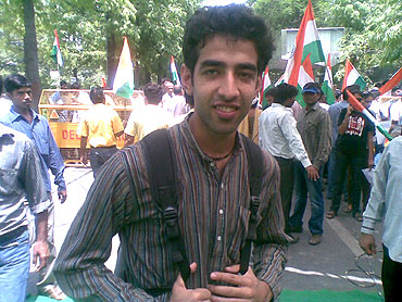 Ishan Pasrila attended the protest on moral grounds