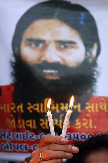 A poster of Baba Ramdev