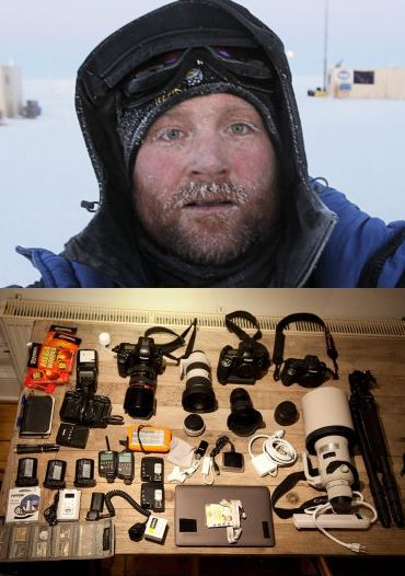 (Top) Lucas Jackson (bottom) The gear Jackson used