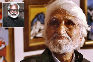 M F Husain (Inset) Manu Parekh