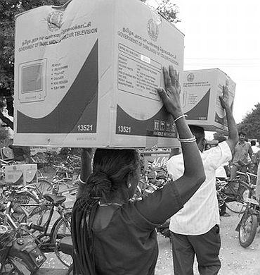 Jaya scraps another DMK scheme; no more free TVs