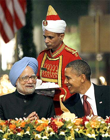 US President Barack Obama with Prime Minister Manmohan Singh