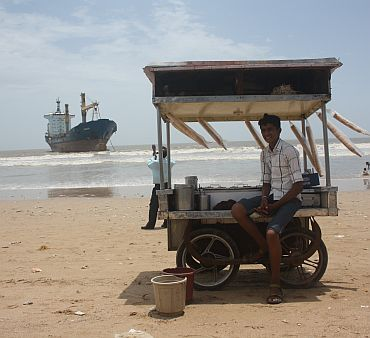 Wisdom stranded at Juhu beach