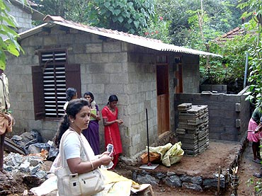 The houses constructed by Dr Sunil have two bedrooms, a kitchen and a bathroom