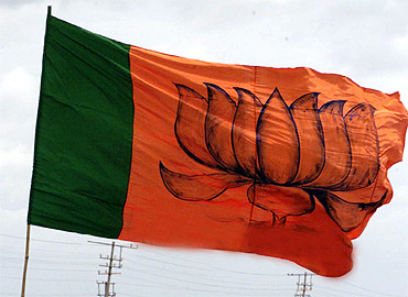 A BJP flag