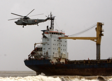 Efforts to salvage ship stranded near Mumbai fails