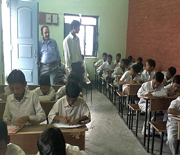 Students at the Shoshit Samadan Kendra