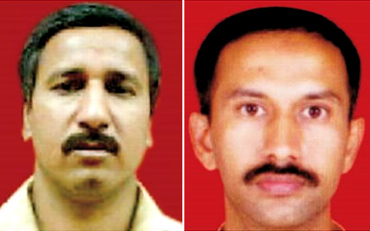 Ramchandra Kalasangra (l) and Sandeep Dange