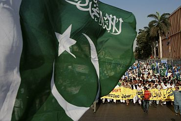 File picture of an anti-India rally in Karachi