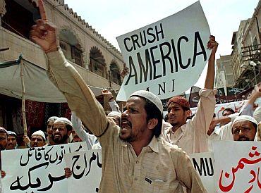 An anti-US rally in Karachi