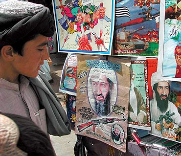 Posters of Osama bin Laden