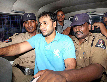 Chaitanya Reddy, while being shifted to the court
