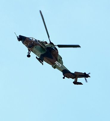 A breathtaking display by the Eurocopter Tiger