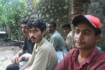 The five Pakistani sailors in a Mumbai jail