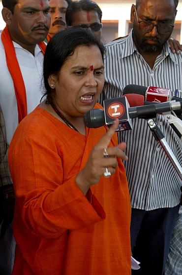 Uma Bharti, is the BJP in-charge of Uttar Pradesh