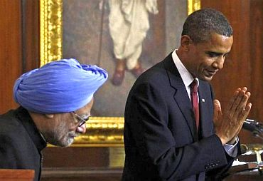 Prime Minister Manmohan Singh with US President Barack Obama