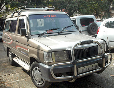 The Qualis car reportedly used by the accused in the operation to kill Dey