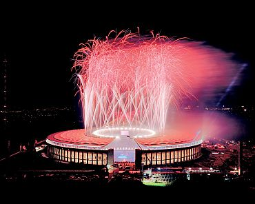 A grand celebration at the Olympiastadion in Berlin