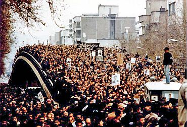 Protestors at Tehran's Shahyad Square