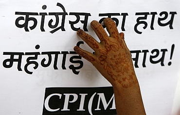 CPI-M protests against the rise in food prices