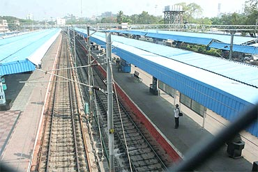 A deserted Hyderabad railway station on Tuesday due to the agitation