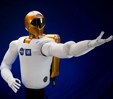 Robonaut2   or R2 for short   is the next generation dexterous robot, developed through a Space Act Agreement by NASA and General Motors. It is faster, more dexterous and more technologically advanced than its predecessors and able to use its hands to do work beyond the scope of previously introduced humanoid robots