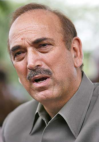 Minister of Health and Family Welfare Gulam Nabi Azad