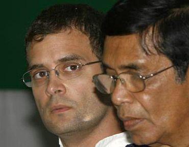 Oscar Fernandes with Rahul Gandhi