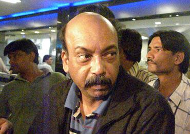 Sebastine Pinto at the Mumbai airport