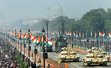 The Republic Day parade in New Delhi