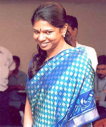 Kanimozhi, Karunanidhi's daughter, a Rajya MP
