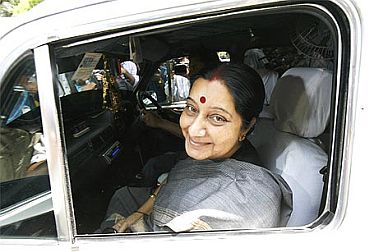 Leader of the Opposition in the Lok Sabha Sushma Swaraj