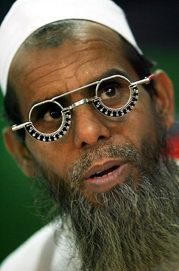 A man gets his eyes tested at a free eye-care camp set up by voluntary organisation in Mumbai