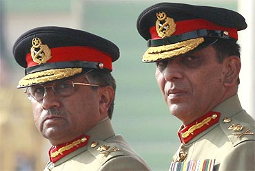 Former Pakistan President, General Pervez Musharraf, with Kayani