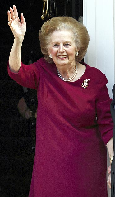 Former British prime minister Margaret Thatcher, whom Archer admires
