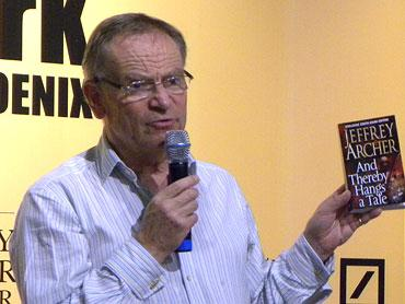 Jeffrey Archer at a book release in Mumbai