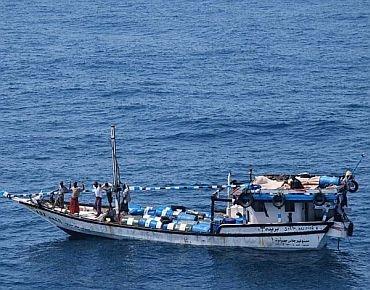 A file photo of a pirate boat
