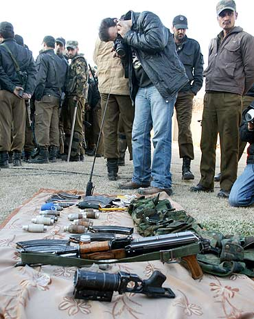 Arms and ammunition recovered from Afghani's car