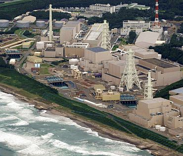 Chubu Electric Power Co's Hamaoka nuclear power plant is pictured in Shizuoka Prefecture August 11