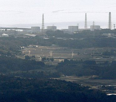 Fukushima Nuclear Plant reactor number 1 Daiichi facility is seen in Fukushima Prefecture, northeastern Japan, March 12