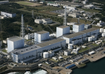 An aerial view of Tokyo Electric Power Co.'s Fukushima Daiichi Nuclear Plant