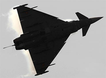 A Eurofighter Typhoon