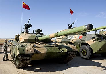 The Chinese People's Liberation Army's PLA ZTZ-99 tank