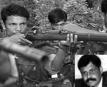 File photo of ULFA cadres. (Inset) Paresh Baruah