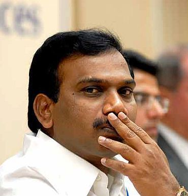 Former telecom minister Andimuthu Raja