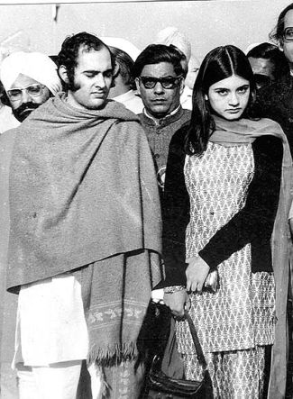 Sanjay Gandhi with Maneka