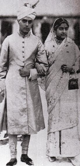Nehru with Kamala after their wedding