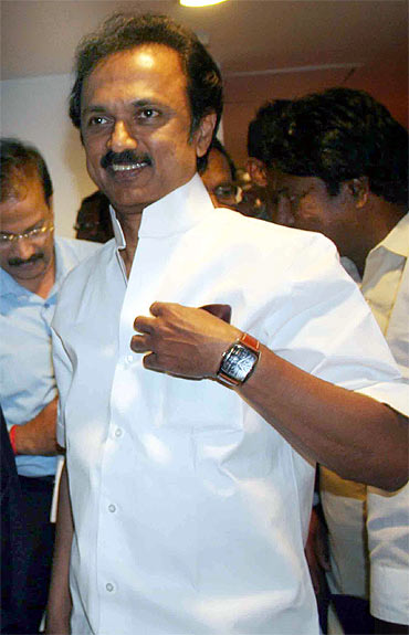 DMK leader M K Stalin, the state's deputy chief minister