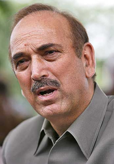Congress leader Ghulam Nabi Azad, who negotiated the seat-sharing agreement with the DMK
